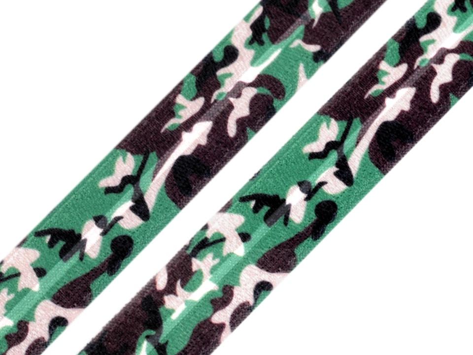 Kummikant, rohelise-pruuni laiguline, 20mm