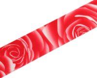 27mm roosimustriline kumm, punane