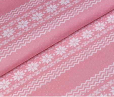 Žakaarkoeline, (virsiku)roosa Norra muster