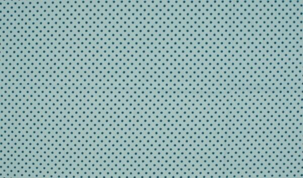 Trikotaažkangas täpiline helesinine/rohekas-sinine täpp sobib