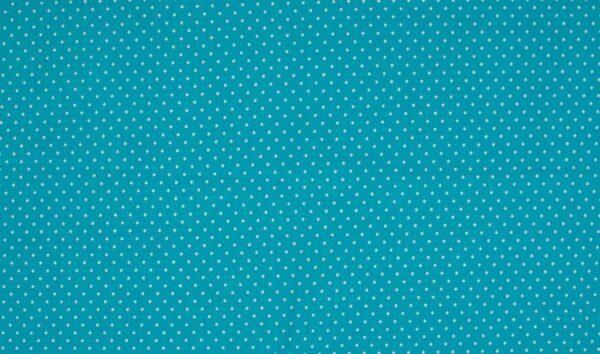 Trikotaažkangas väikeste täppidega Aqua-sinine/ valge täpp