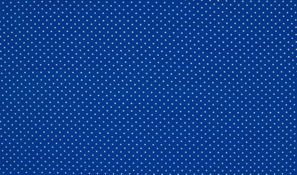 Trikotaažkangas väikeste täppidega royal-sinine/valge täpp, Single Jersey