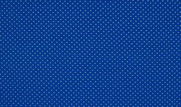 Trikotaažkangas täppidega royal-sinine/valge