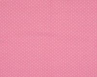 Trikotaažkangas väikeste täppidega roosa/valge täpp, Single Jersey