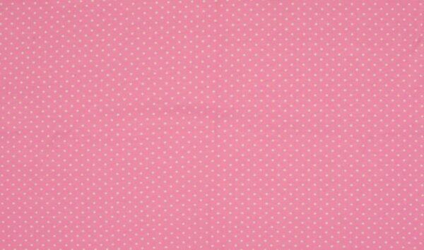 Trikotaažkangas väikeste täppidega roosa/valge täpp