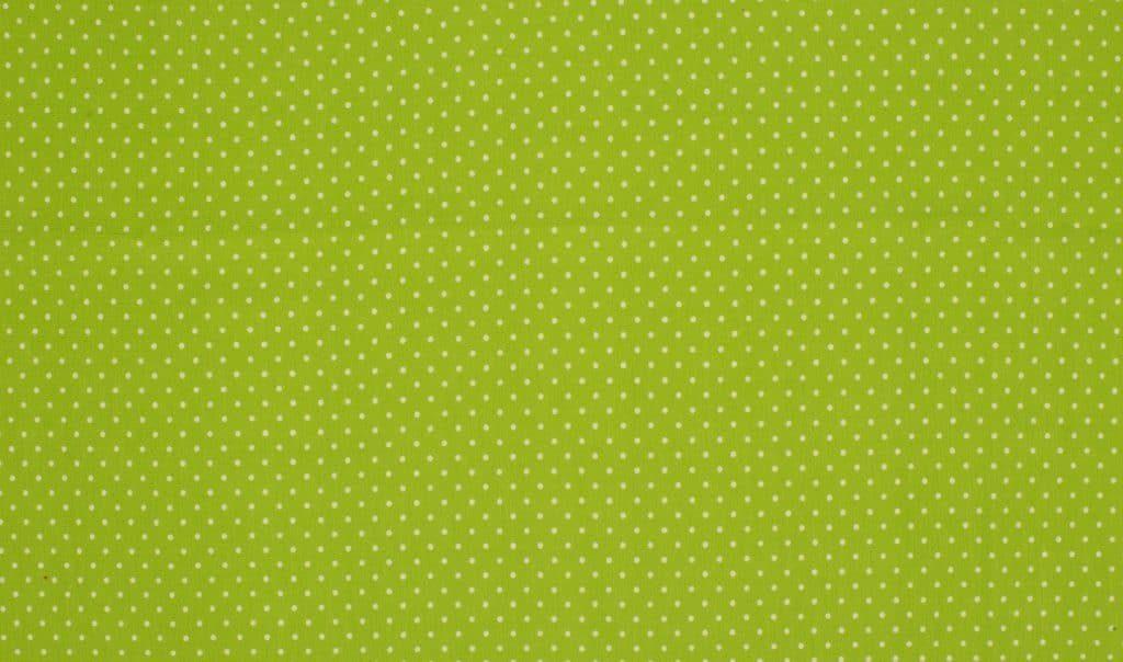Trikotaažkangas väikeste täppidega laimiroheline/ valge täpp Single Jersey