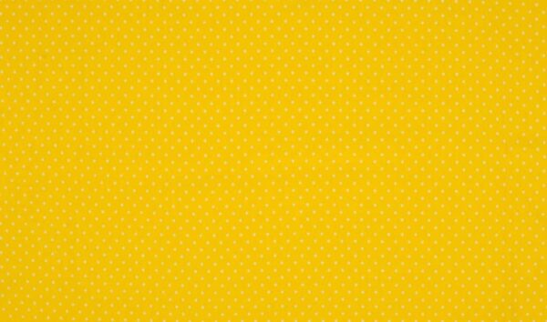 Trikotaažkangas väikeste täppidega kollane/valge täpp