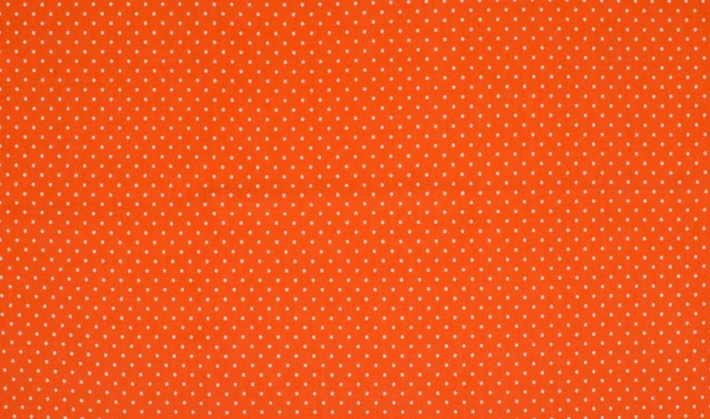 Trikotaažkangas väikeste täppidega oranž/ valge täpp Single Jersey