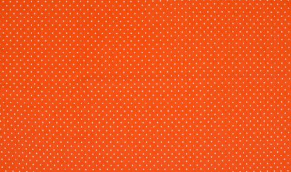 Trikotaažkangas väikeste täppidega oranž/ valge täpp