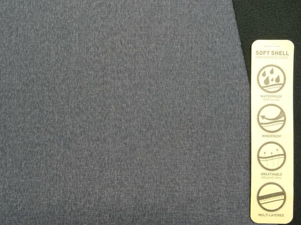 Softshell, peenesäbruline, hall 0,95m/tk Defektiga!
