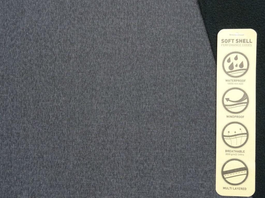 Softshell, peenesäbruline, sinakas-hall 0,45m/tk