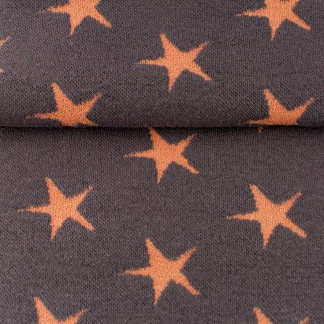 Žakaarkoeline tähekangas (soonik), hall/tuhm oranž