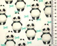 Pandad mündivärvi lipsukestega, Single Jersey