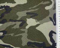 Armeemuster khakiroheline, õhuke trikotaaž (Single Jersey)