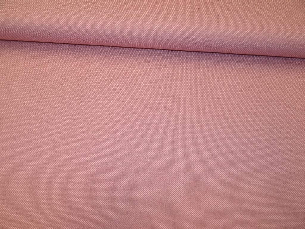 Sissekootud täpikestega kudum, vanaroosa/valge täpp