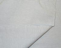 Kitsaste triipudega Single Jersey, helehall/valge