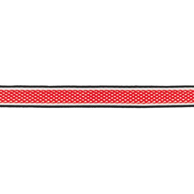 Dekoratiivne võrkpael (küljetriibuks) punane/ Side stripe, mesh