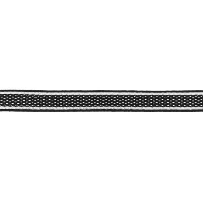 Dekoratiivne võrkpael (küljetriibuks) must/ Side stripe, mesh