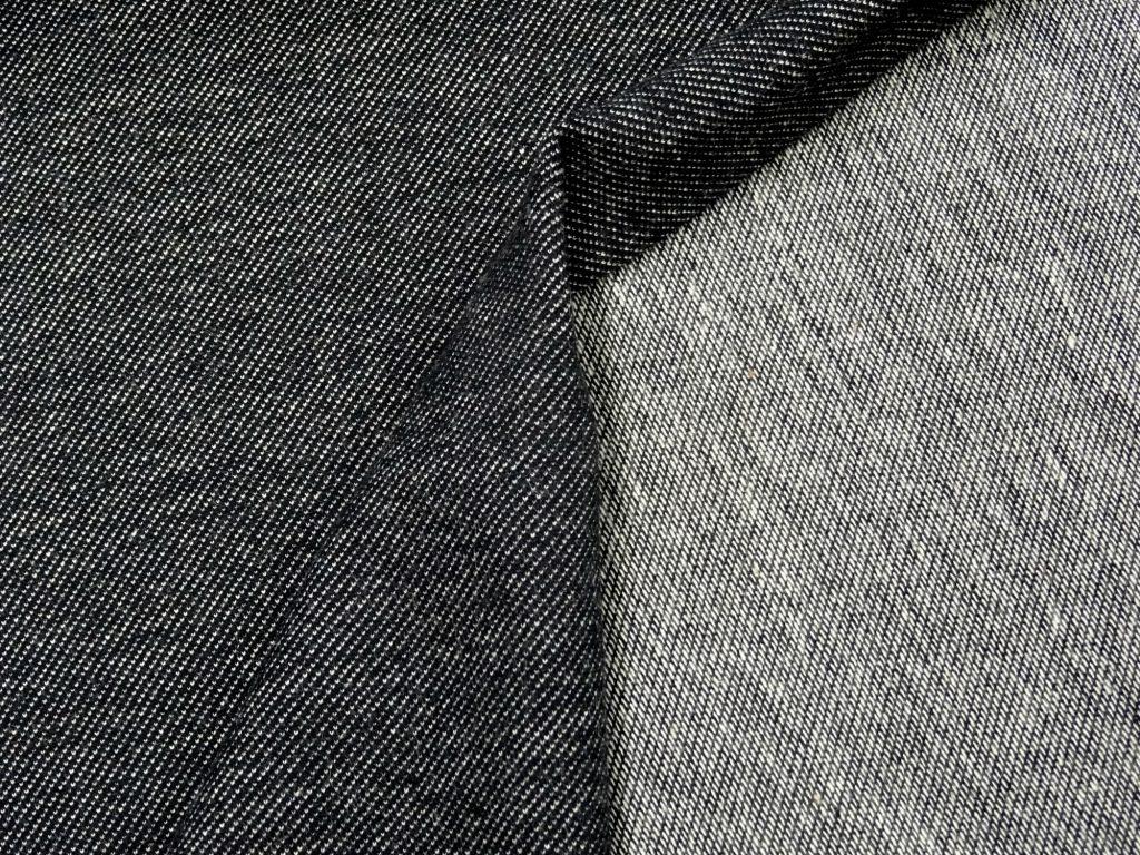 Teksatrikotaaž must (diagonaaltrikotaaž/Jeans Jersey)