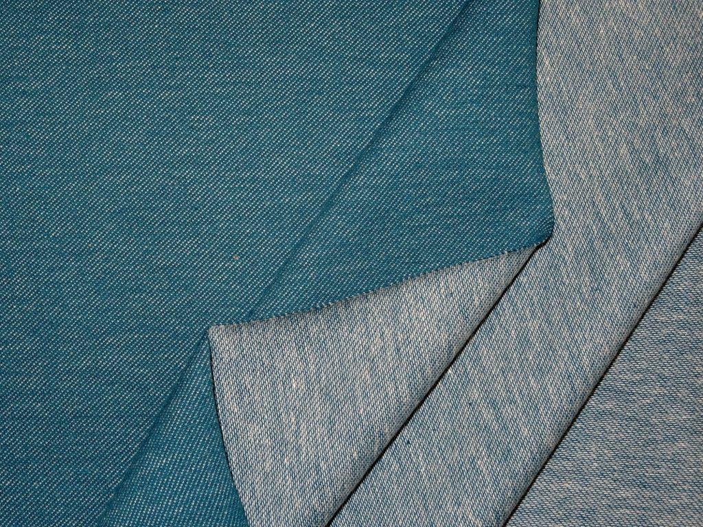 Teksatrikotaaž sinakas-rohekas (Petrol) (diagonaaltrikotaaž/Jeans Jersey) 0,63m/tk