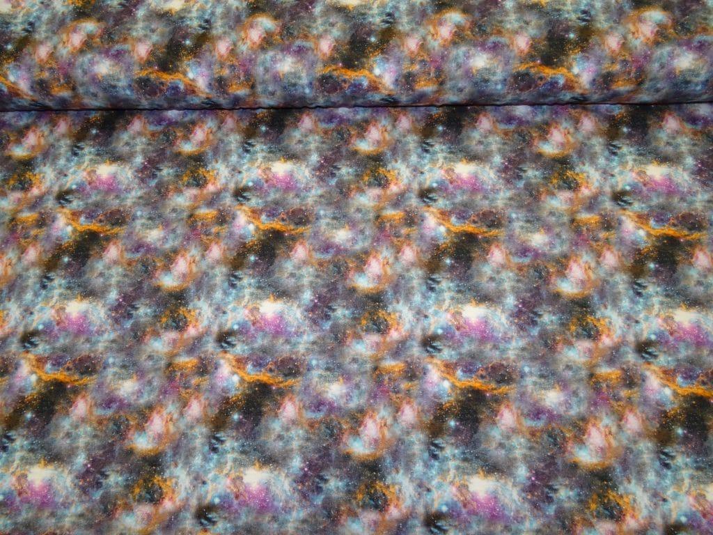 Siniste/lillade toonidega pastelne galaktika, Single Jersey