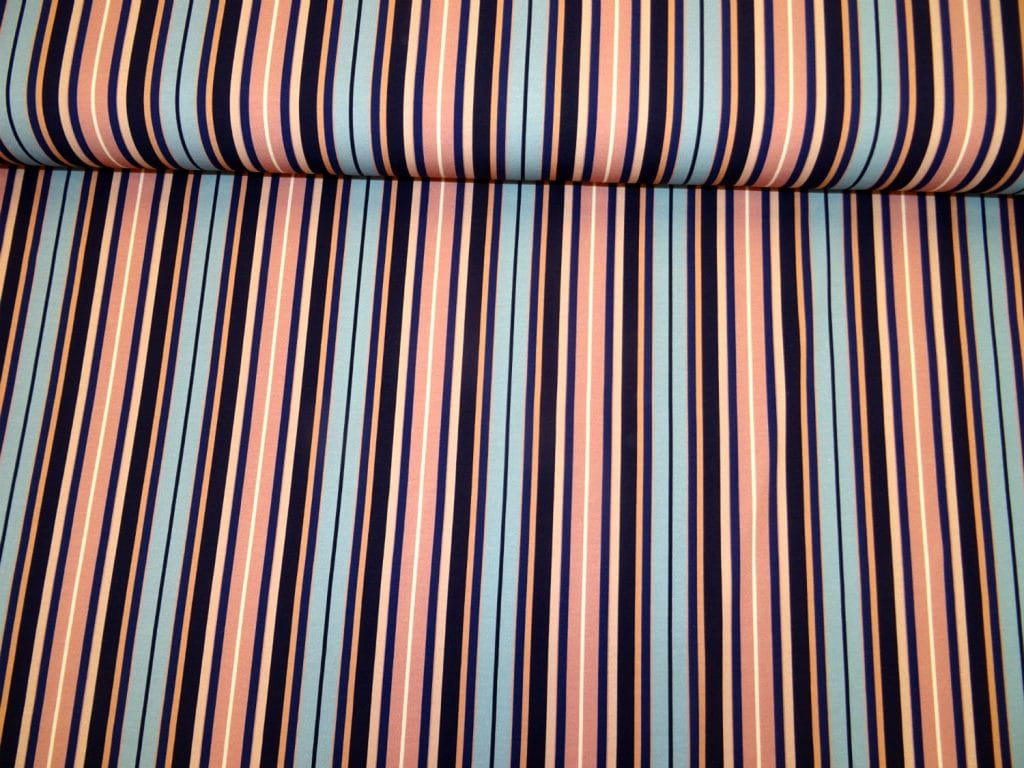 Triibuline, tuhm-roosa/sinine, puuvillatrikotaaž /Cotton Single Jersey/
