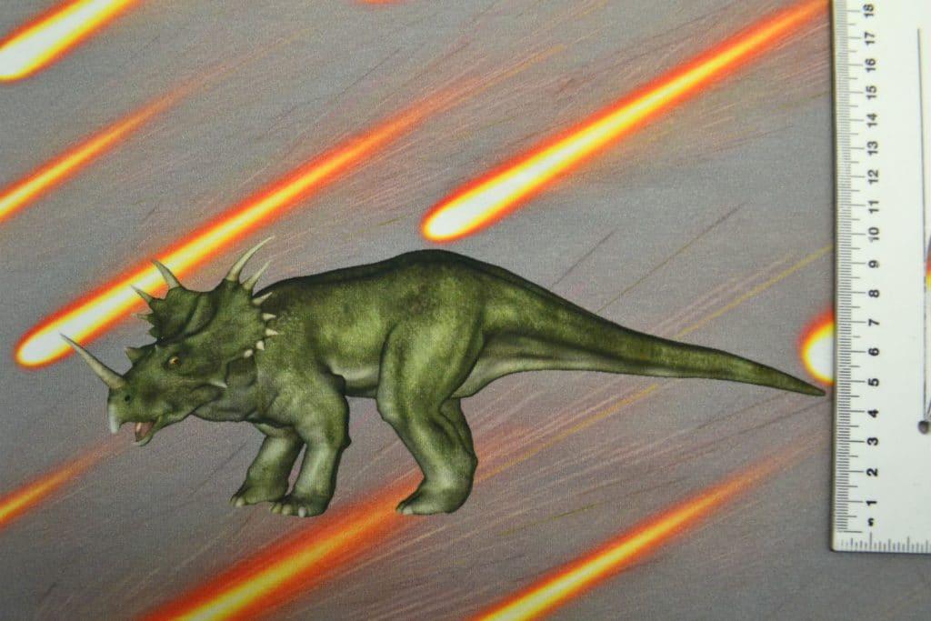 Dinosaurus 3, kupong/paneel ca 40X51cm, Single Jersey
