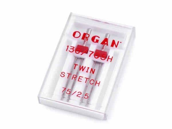 Kaksiknõel õmblusmasinale 2.5mm/ 75 Organ