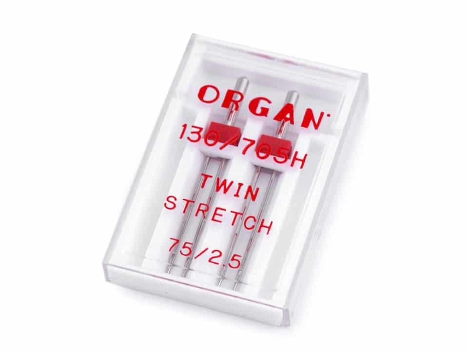 Kaksiknõel õmblusmasinale 2.5mm/ 75 Organ 2tk komplekt