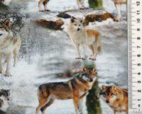 Valged ja pruunikad hundid lumel, Single Jersey