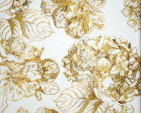 """Kuldsed"" hortensiad valgel, Single Jersey"