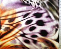 Oranž/lilla laikudega loomamuster, Single Jersey