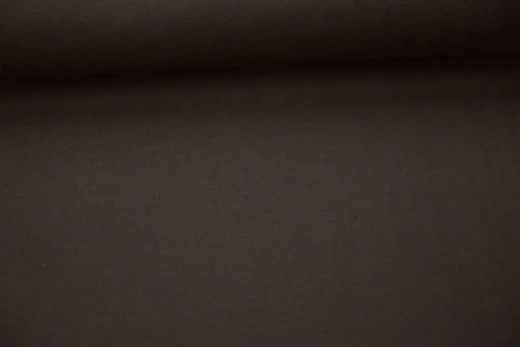 Tumepruun Single Jersey, orgaaniline