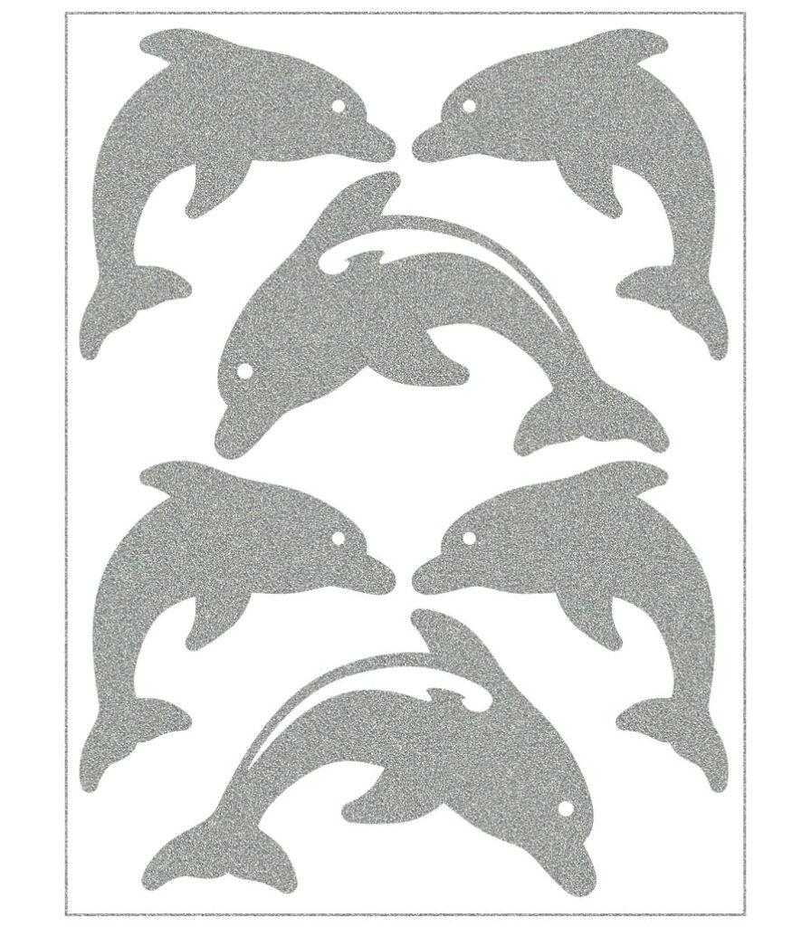 Triigitav helkiv embleem, delfiinid
