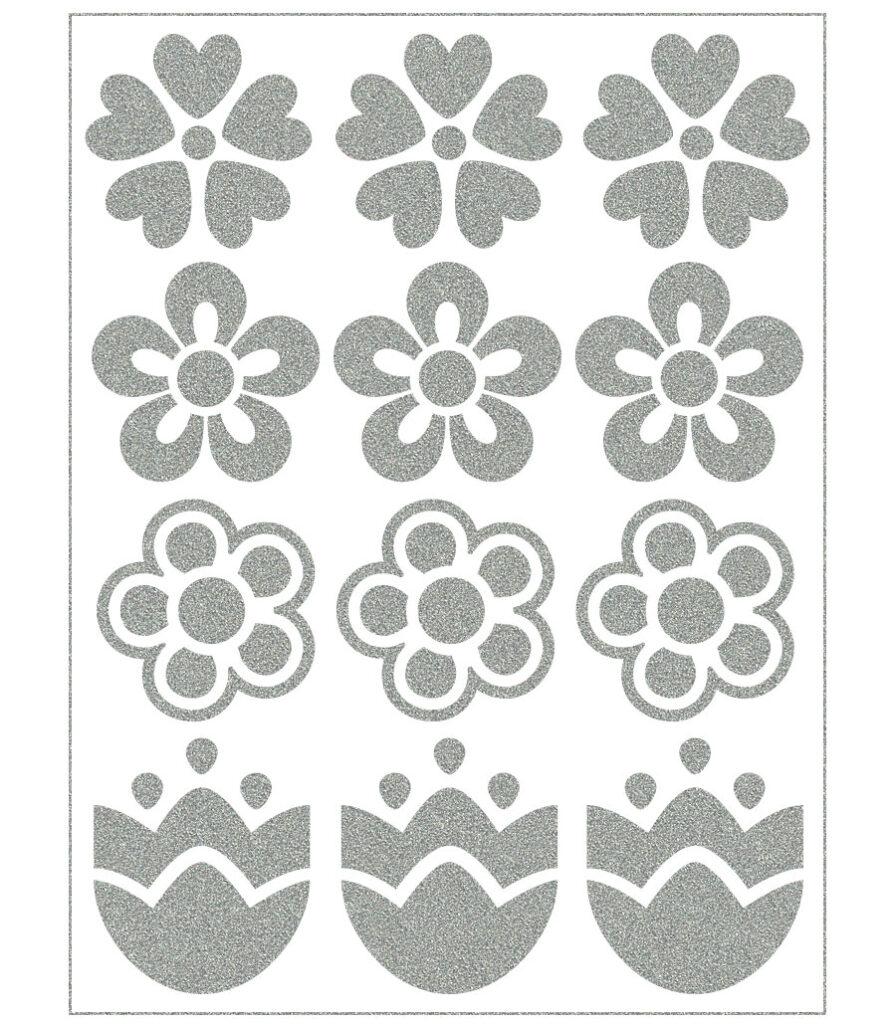 Triigitav helkiv embleem, lilleõied (erinevad)