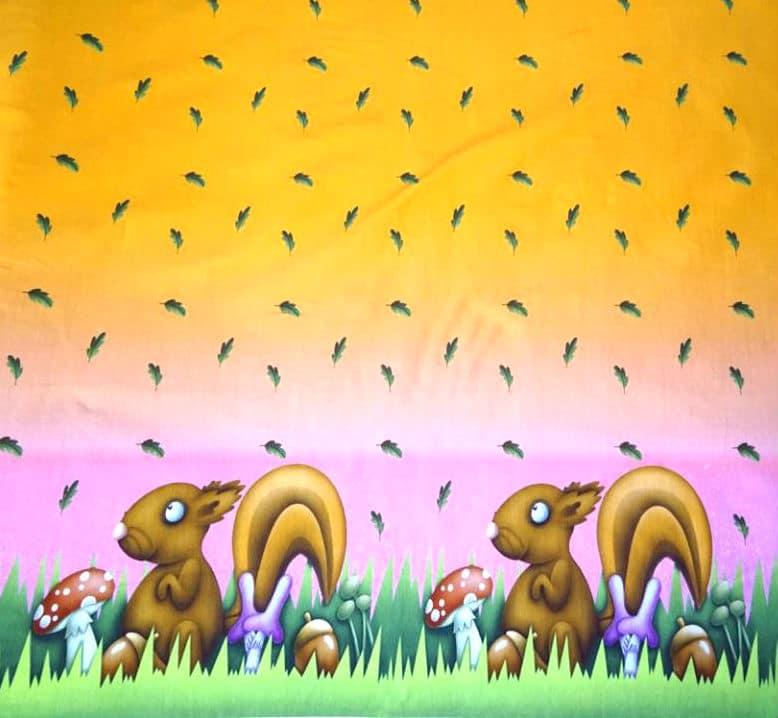Kupong/paneel kahe oravaga, Single Jersey, 0,59X0,75cm