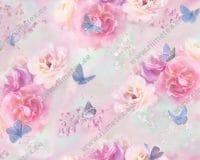 Pastelsed lilled ja helesinised liblikad, Single Jersey