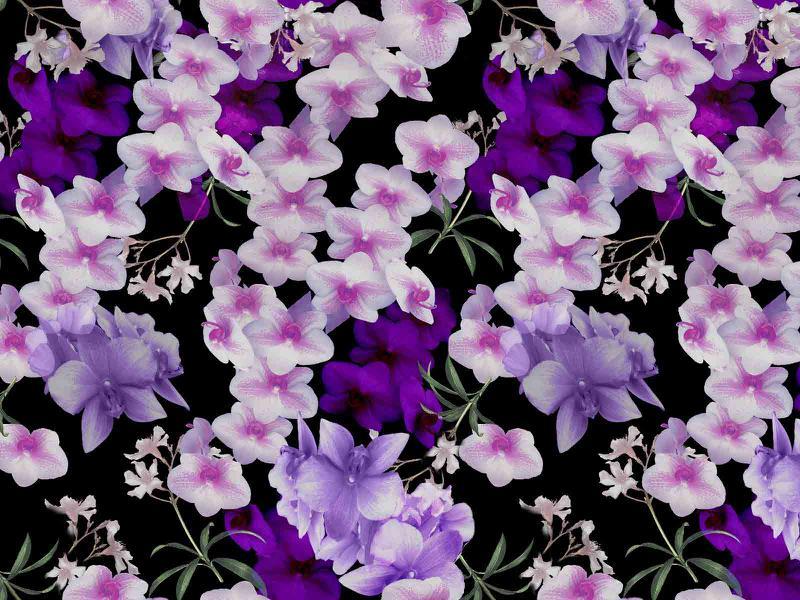 Orhideed, digitrükiga viskoostrikotaaž (Vortex)