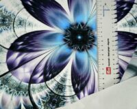Sinine lill, French Terry, paneel ca 53X70cm