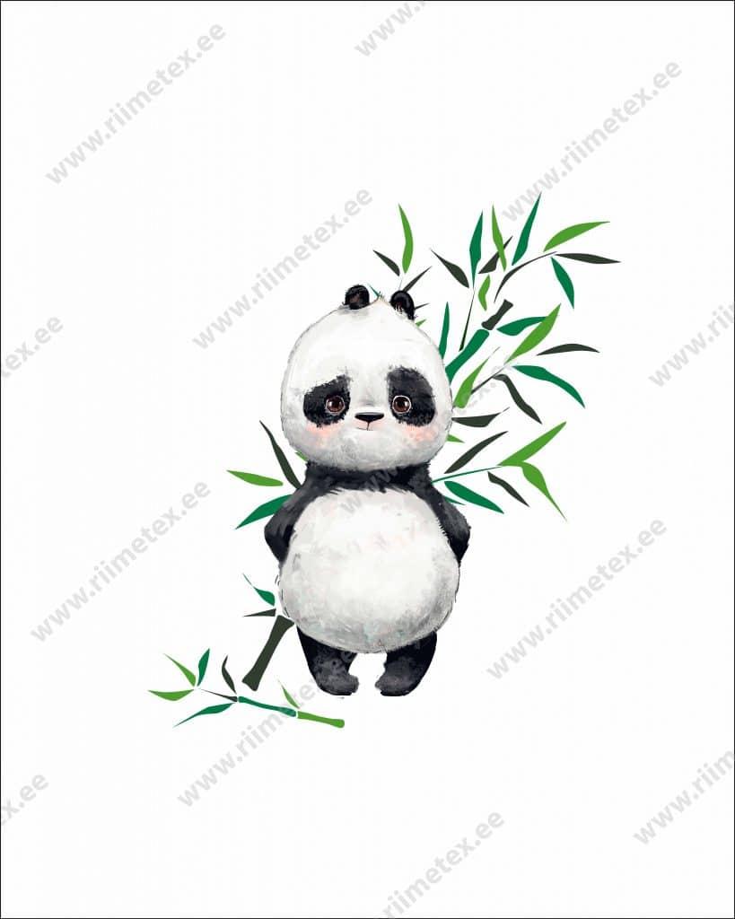 Panda bambusega, French Terry, paneel ca 40X50cm