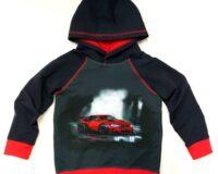 Punane auto, French Terry, paneel ca 40X50cm
