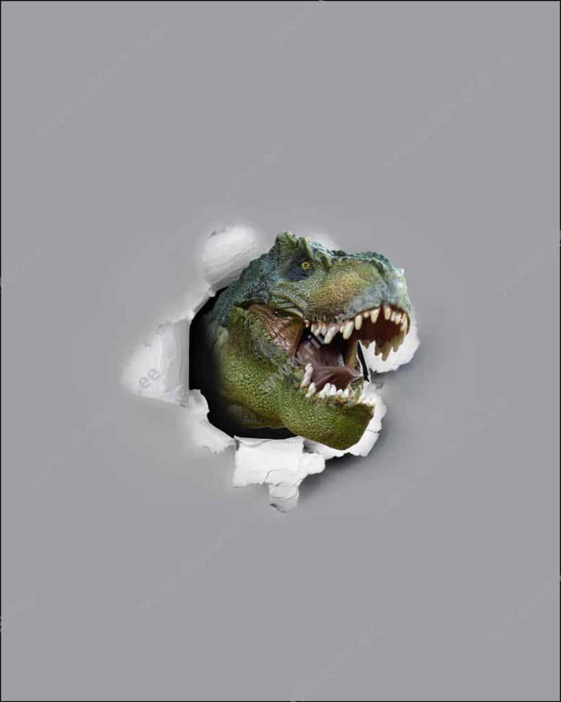 Dinosaurus, French Terry, paneel ca 40X50cm