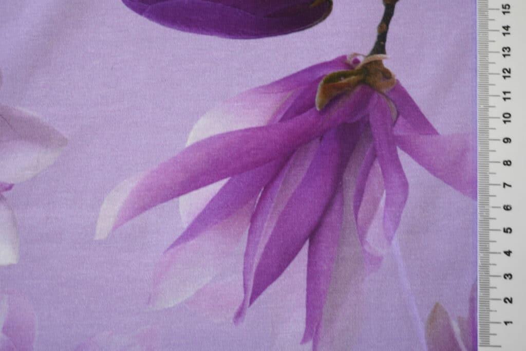 Suured magnooliad, helelilla, Single Jersey