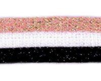 Dekoratiivpael (kootud) beež-must-kuldne (küljetriibuks, kapuutsipaelaks)
