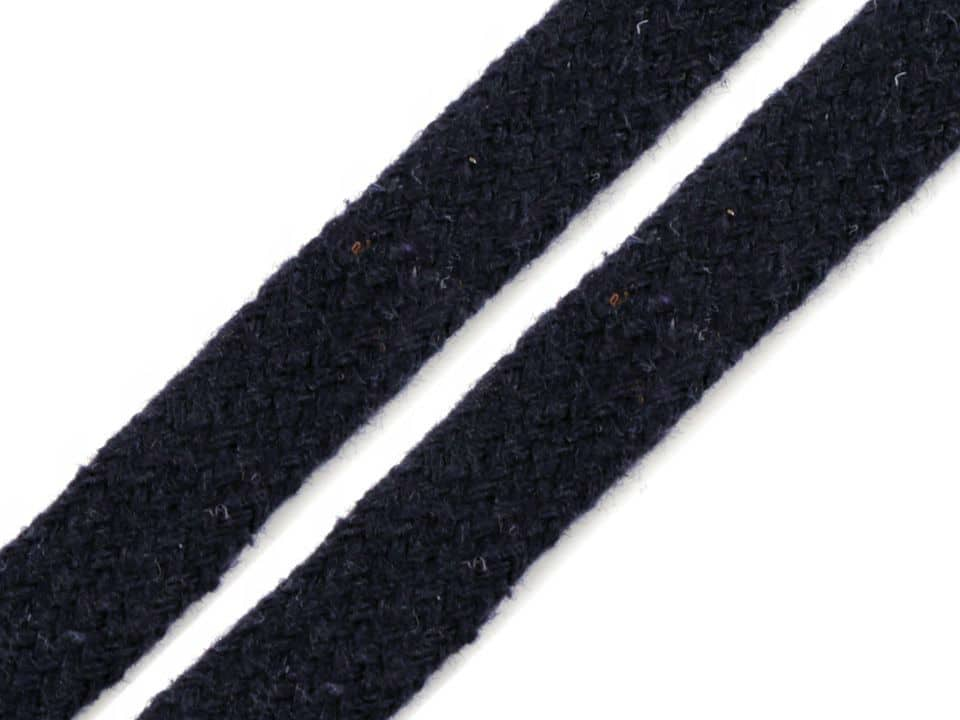 "Puuvillane lame ""kapuutsipael"", tumesinine/ Flat rope, Navy, 12mm"