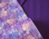 Õhuke veekindel jopekangas (soft-mesh), lavendlid ja väikesed liblikad