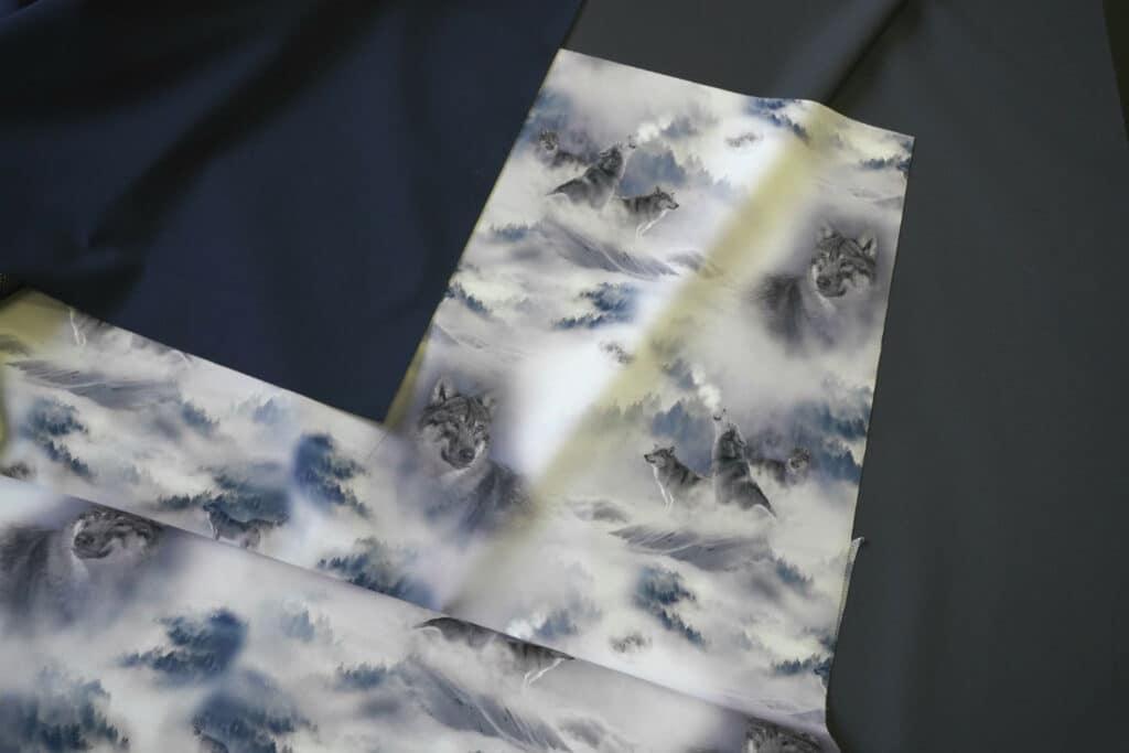 Õhuke veekindel jopekangas (soft-mesh), hundid