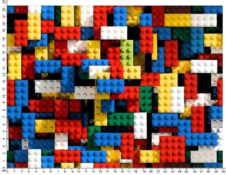 Värvilised legoklotsid, Single Jersey
