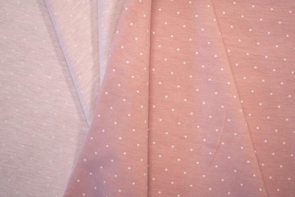 Väikeste täppidega vanaroosa/ valge täpp Single Jersey