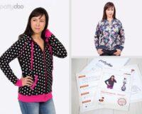 """Pattydoo naiste lukuga dressipluusi/ blusooni lõige """"Janice"""", suurused 32 - 54"""